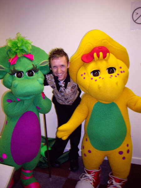 Mr Stix with dinosaurs