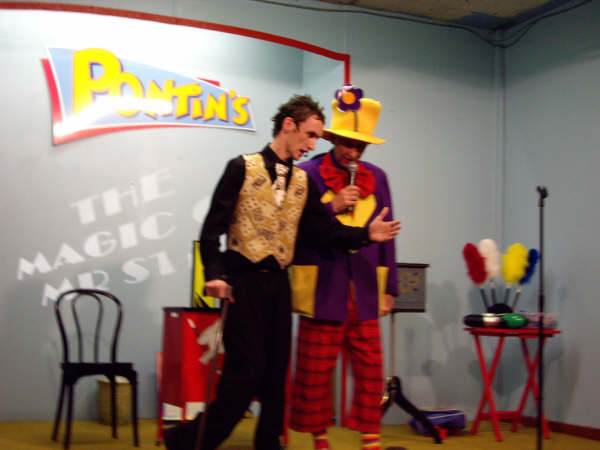 Mr Stix and Peanut at Pontins