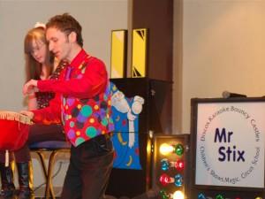 Disco karaoke with Mr Stix